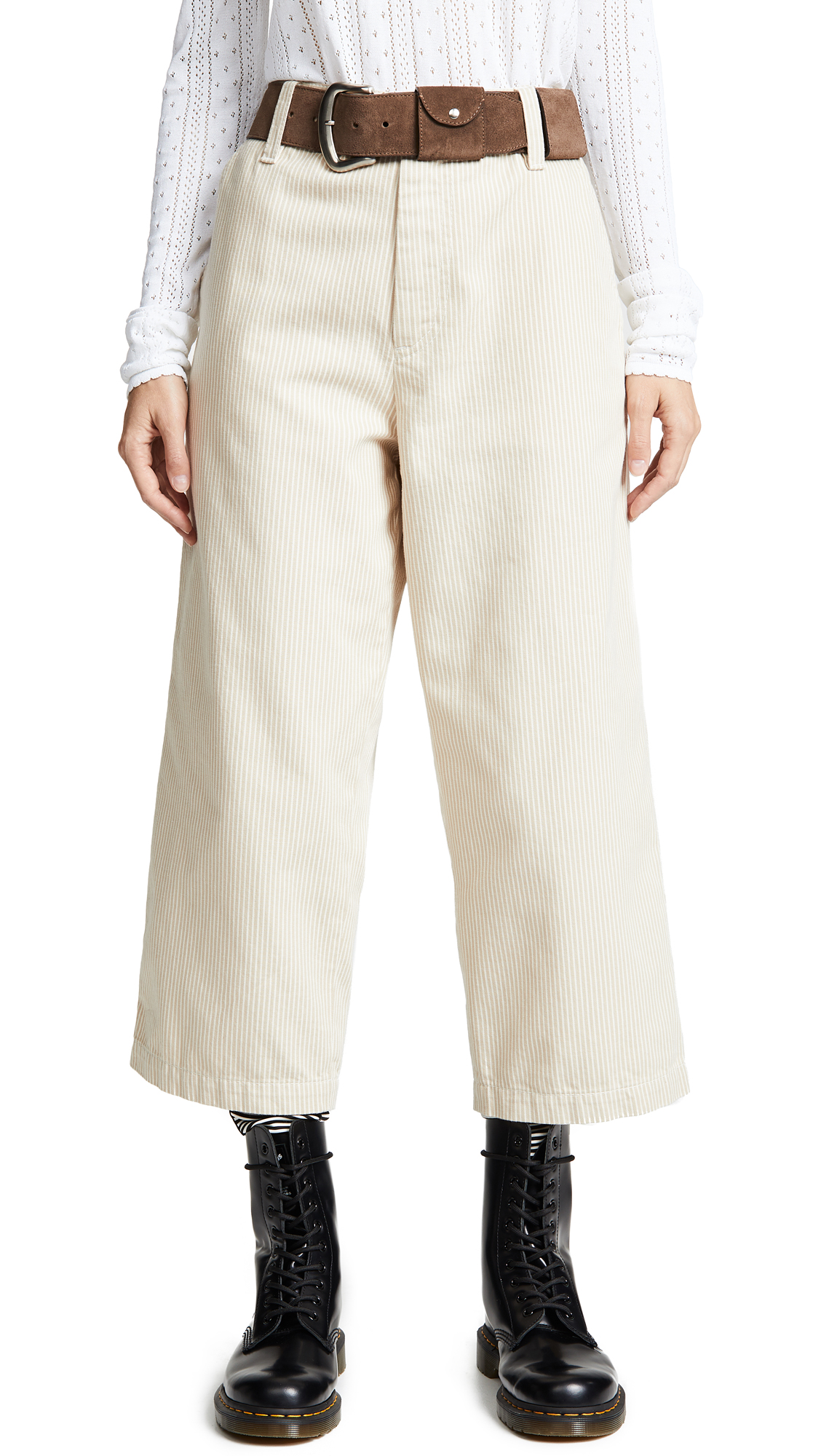 Marc Jacobs Redux Grunge Cropped Pants - Beige/Ivory