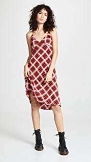 The Marc Jacobs Redux Grunge Bias Plaid Knee Length Dress