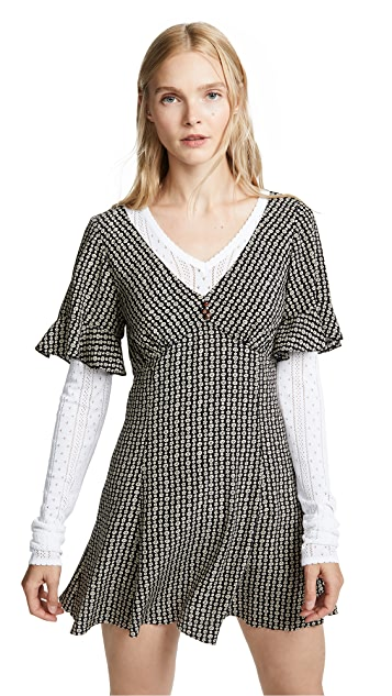 Marc Jacobs Redux Grunge Short Sleeve Mini Dress
