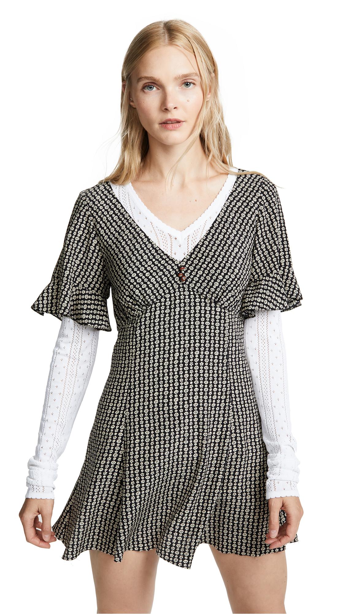 Marc Jacobs Redux Grunge Short Sleeve Mini Dress - Black Multi