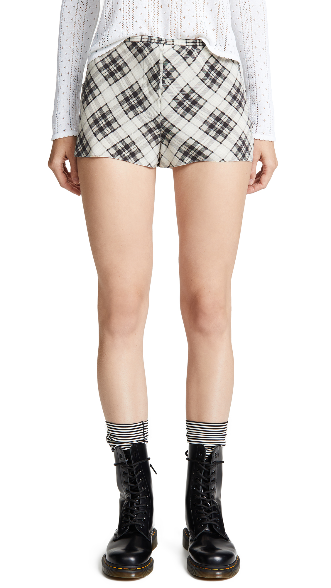 Buy The Marc Jacobs online - photo of The Marc Jacobs Redux Grunge Plaid Shorts