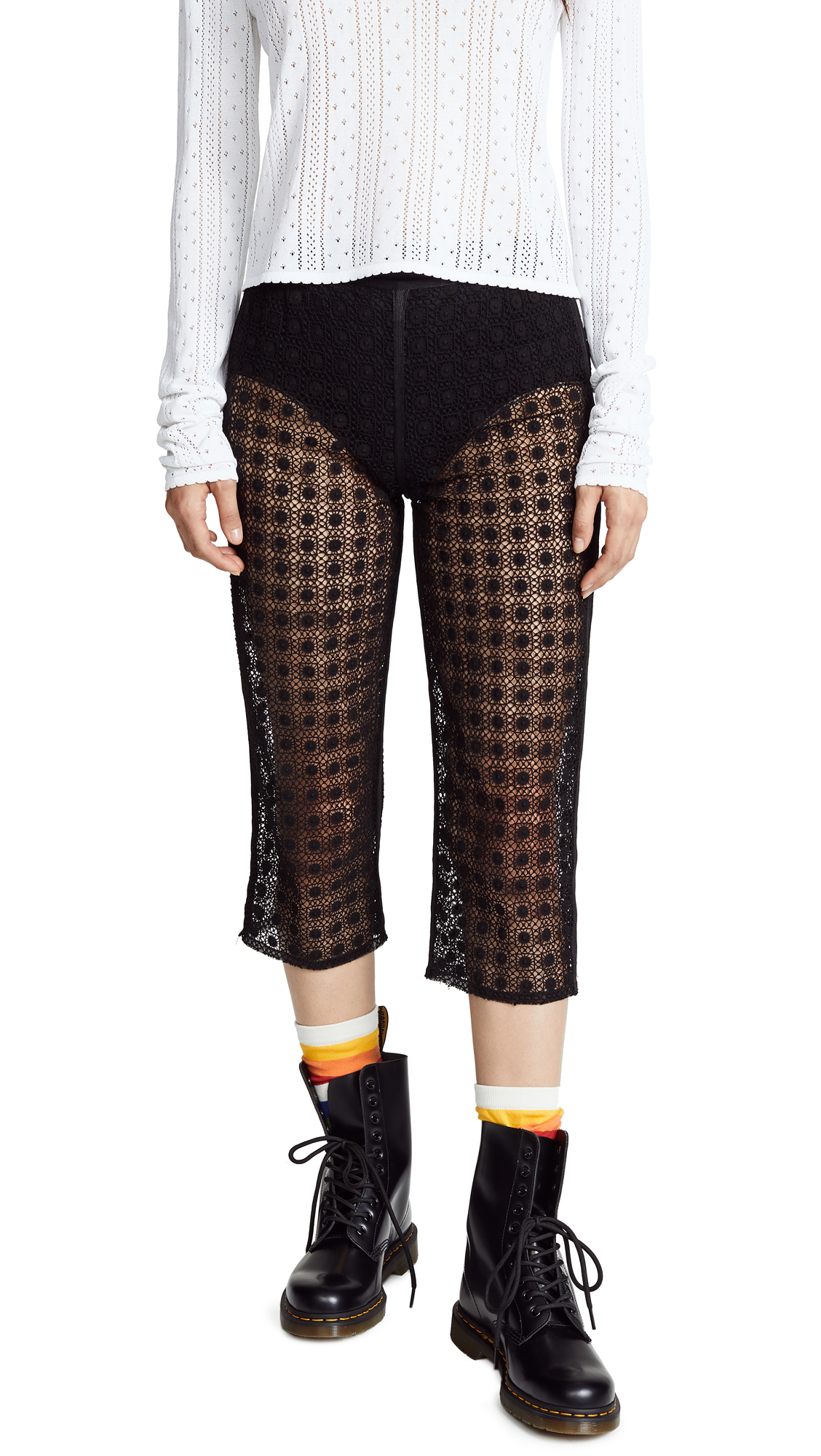 Marc Jacobs Redux Grunge Cropped Pants - Black