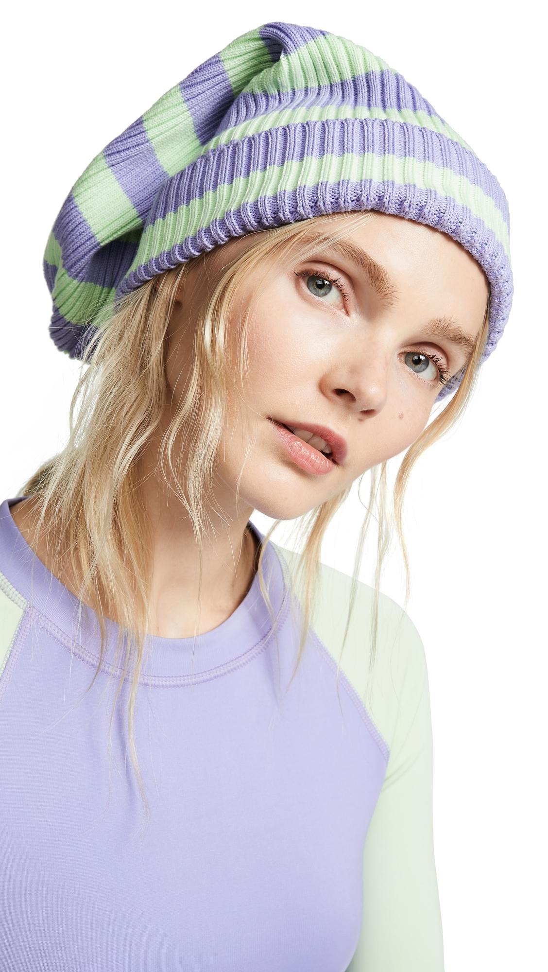 Marc Jacobs Stripe Hat - Lavender/Mint Multi