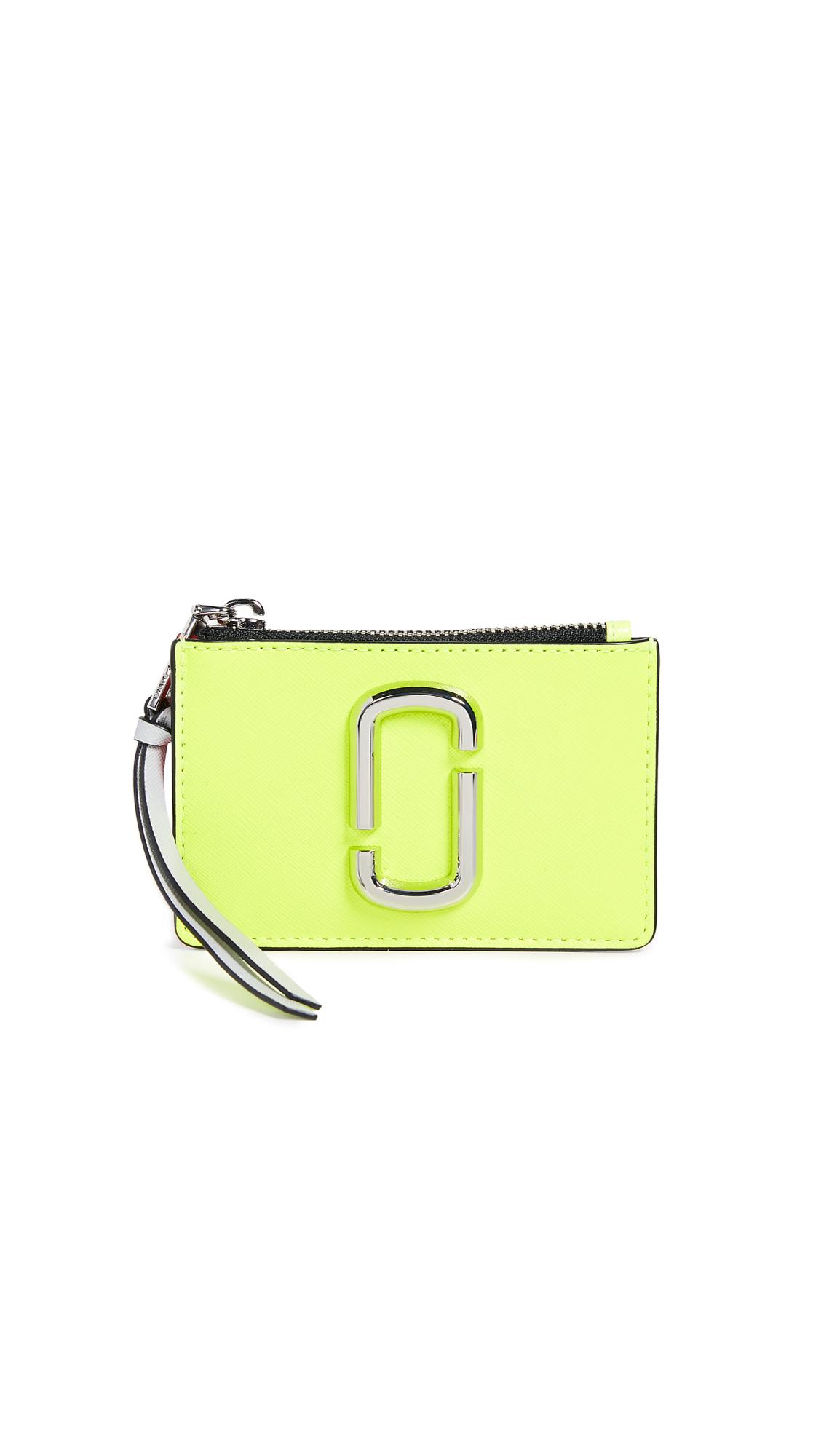 Marc Jacobs Snapshot Top Zip Multi Wallet - Yellow Multi