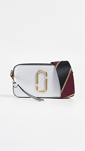 Snapshot Colorblock Camera Bag, Silver in Silver Multi