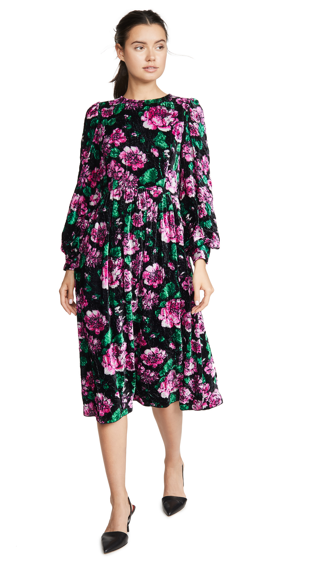 Buy The Marc Jacobs online - photo of The Marc Jacobs Blouson Sleeve Flare Dress