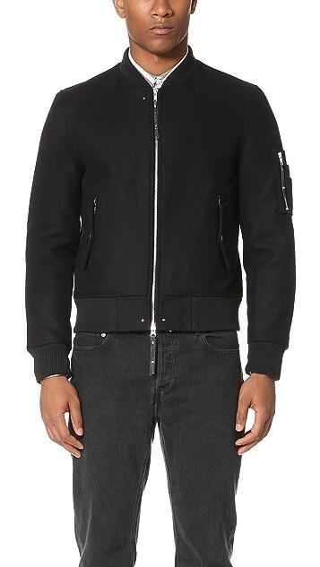 MKI MA-1 Fitted Wool Biker Jacket