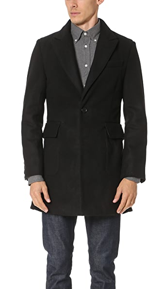 MKI Peak Lapel Single Overcoat