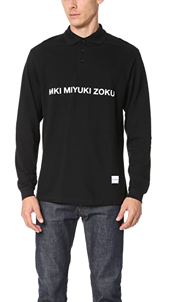 MKI Long Sleeve Badge Polo Shirt