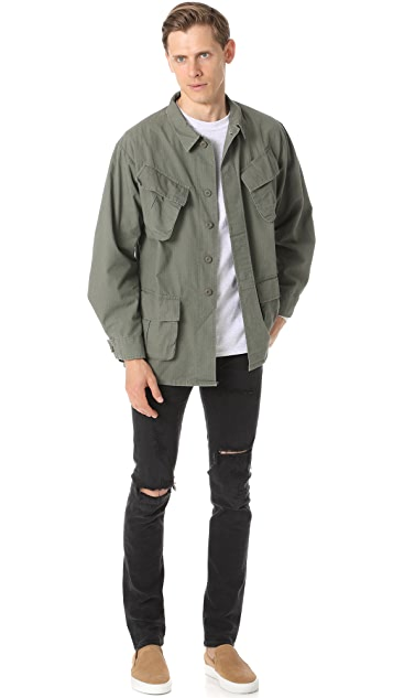 MKI Slanted Pocket Overshirt