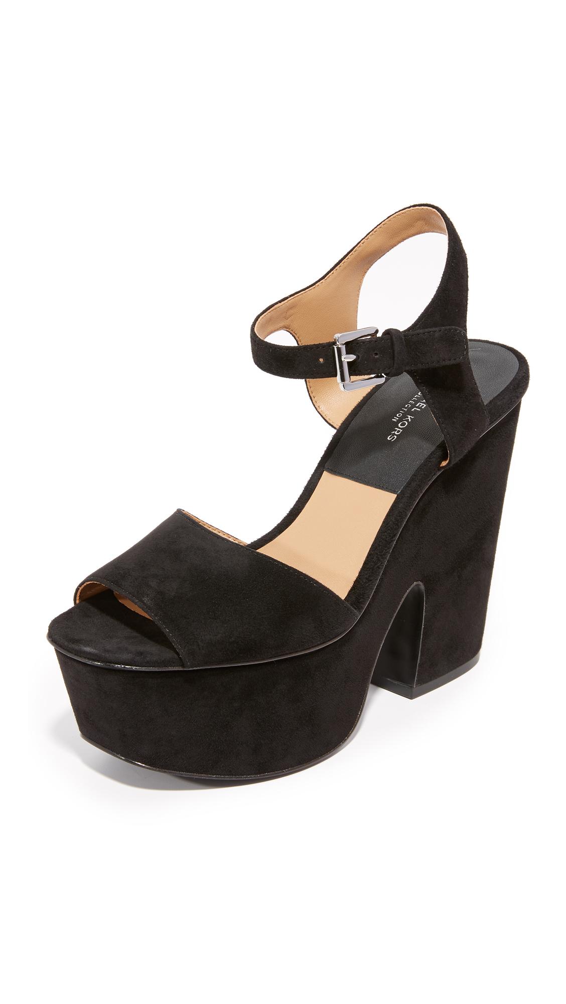 michael kors female 188971 michael kors collection harley platform sandals black