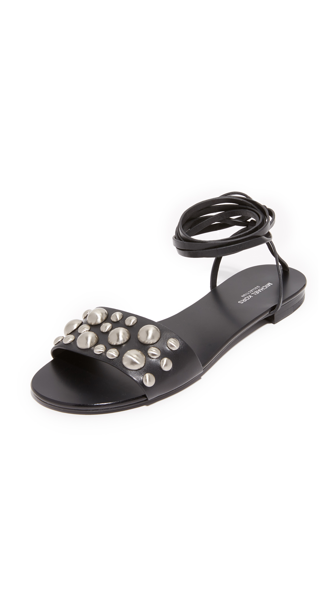 michael kors female 188971 michael kors collection mica lace up gladiator sandals black
