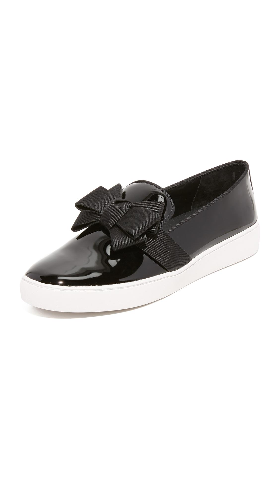 michael kors female 188971 michael kors collection val bow slip on sneakers black