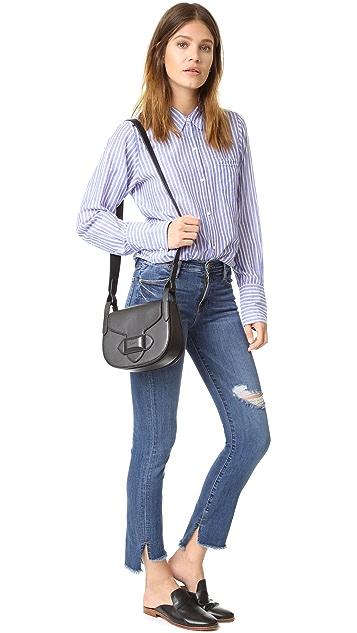 Michael Kors Collection Daria Small Cross Body Saddle Bag