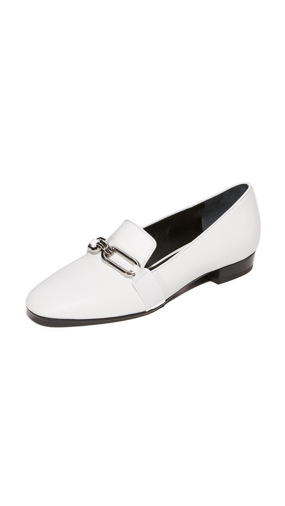 michael kors female 45883 michael kors collection lennox loafers optic white