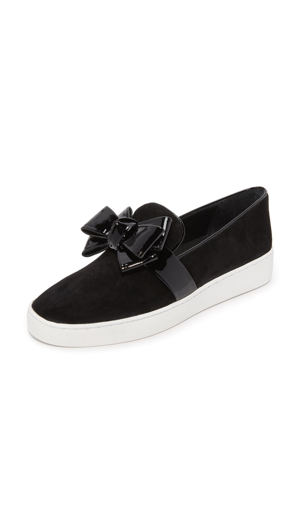 michael kors female 188971 michael kors collection val slip on sneakers black