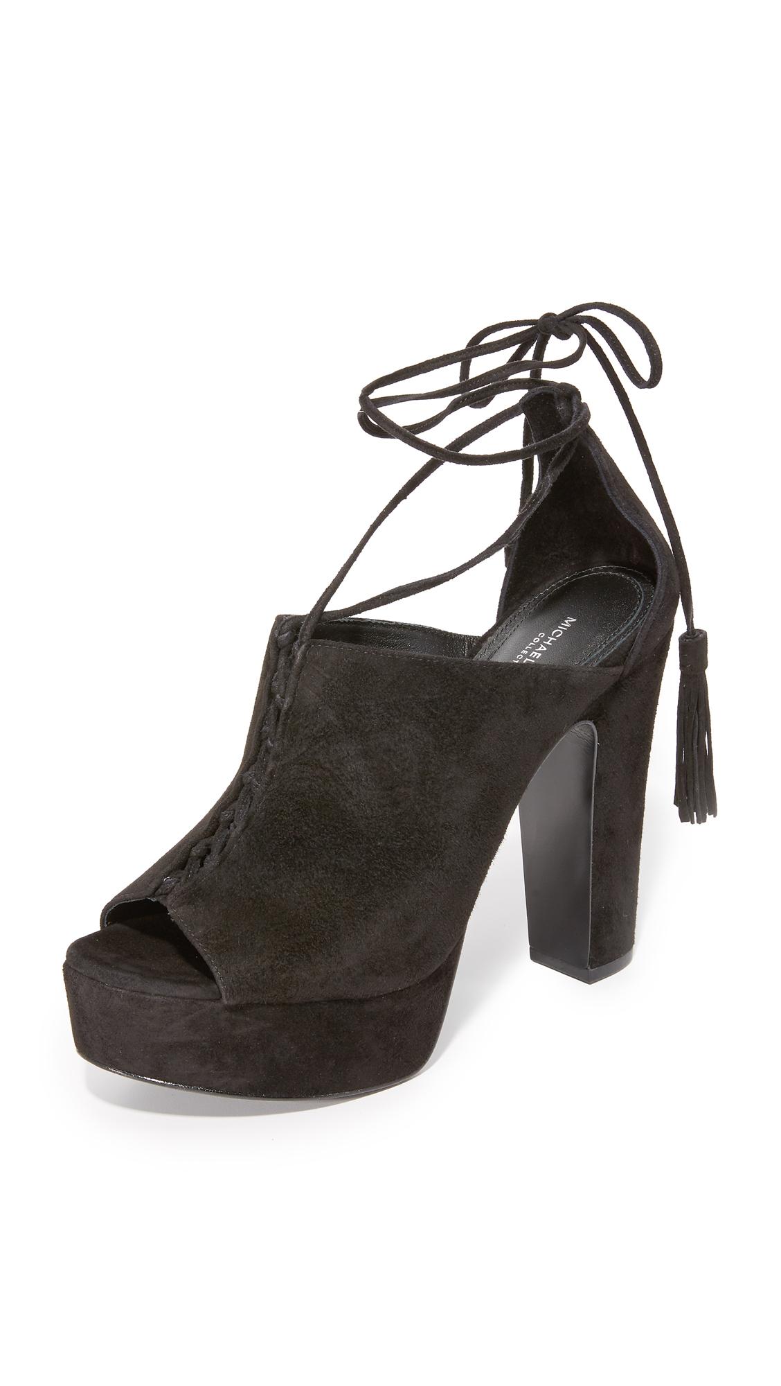 michael kors female 188971 michael kors collection sylvan sandals black