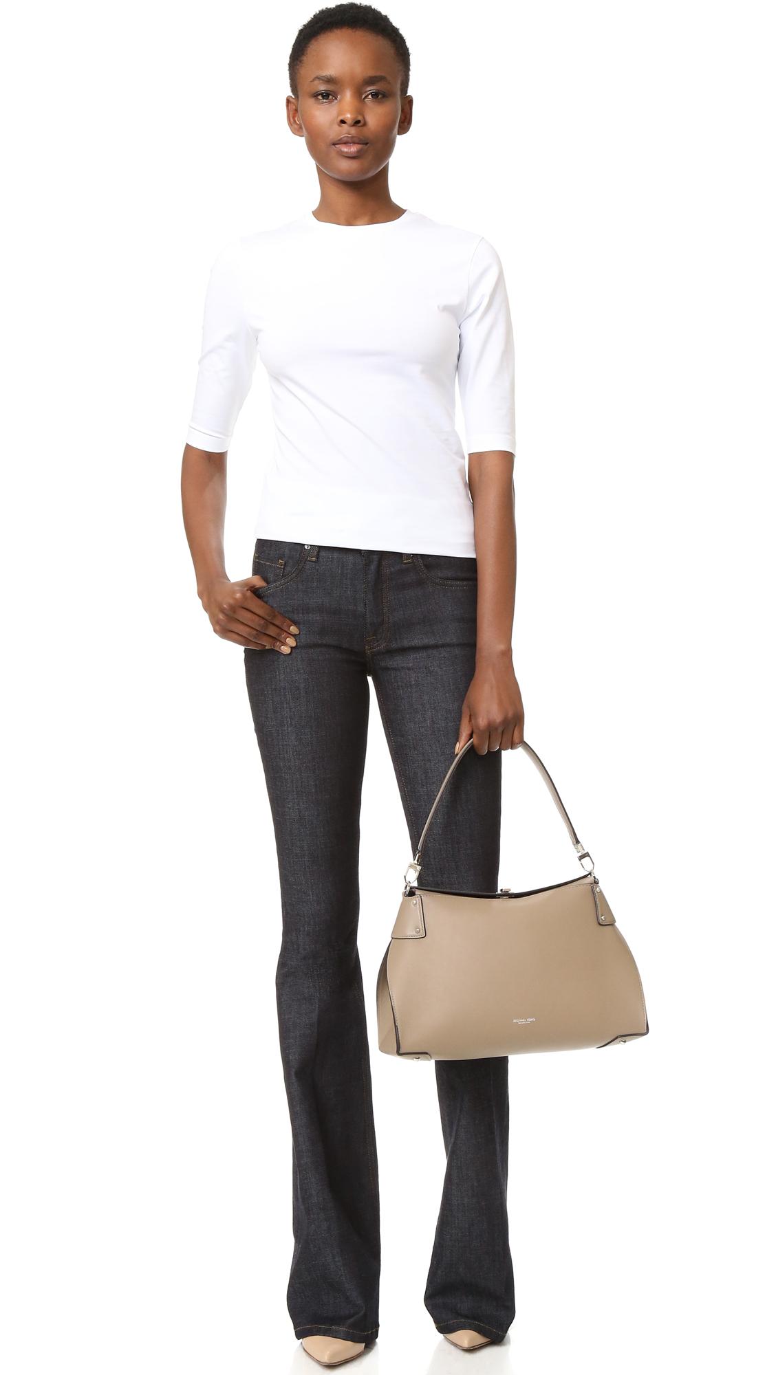 34d80548588d Michael Kors Collection Miranda Top Lock Shoulder Bag   SHOPBOP