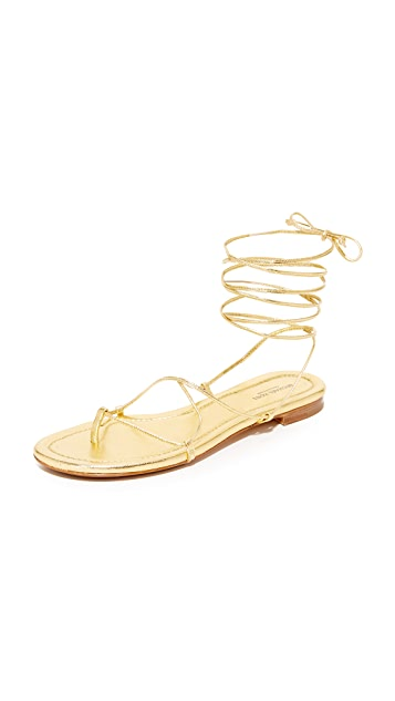 Michael Kors Collection Bradshaw Wrap Sandals