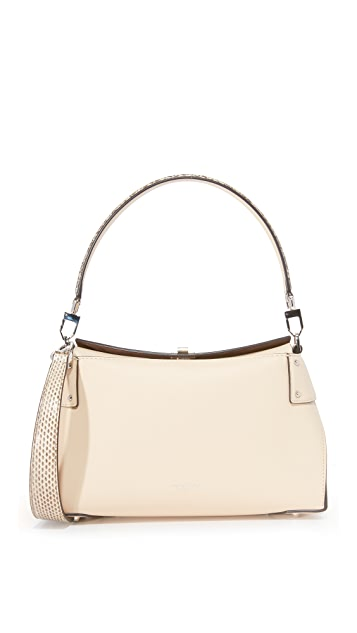 Michael Kors Collection Miranda Top Lock Shoulder Bag