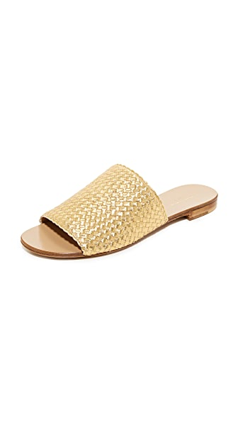 Michael Kors Collection Byrne Slides - Gold