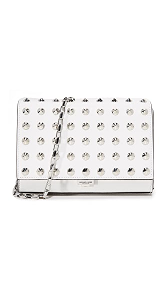 Michael Kors Collection Yasmeen Stud Clutch - Optic White