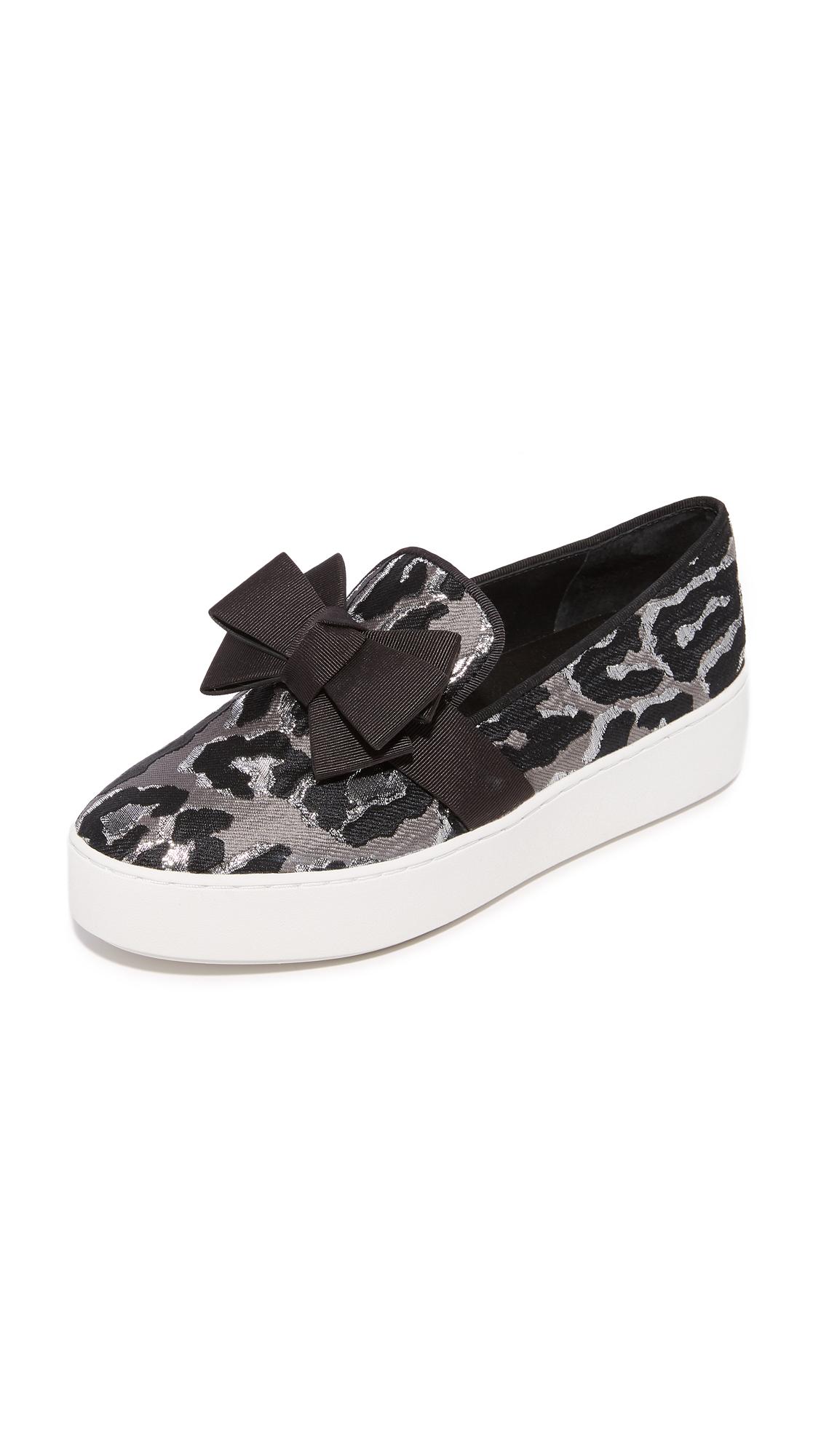 Michael Kors Collection Val Platform Slip On Sneakers - Slate