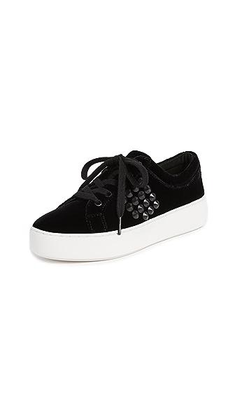 Michael Kors Collection Valin Platform Sneakers In Black