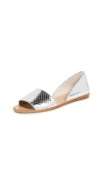 Michael Kors Collection Mallory Peep Toe Flats