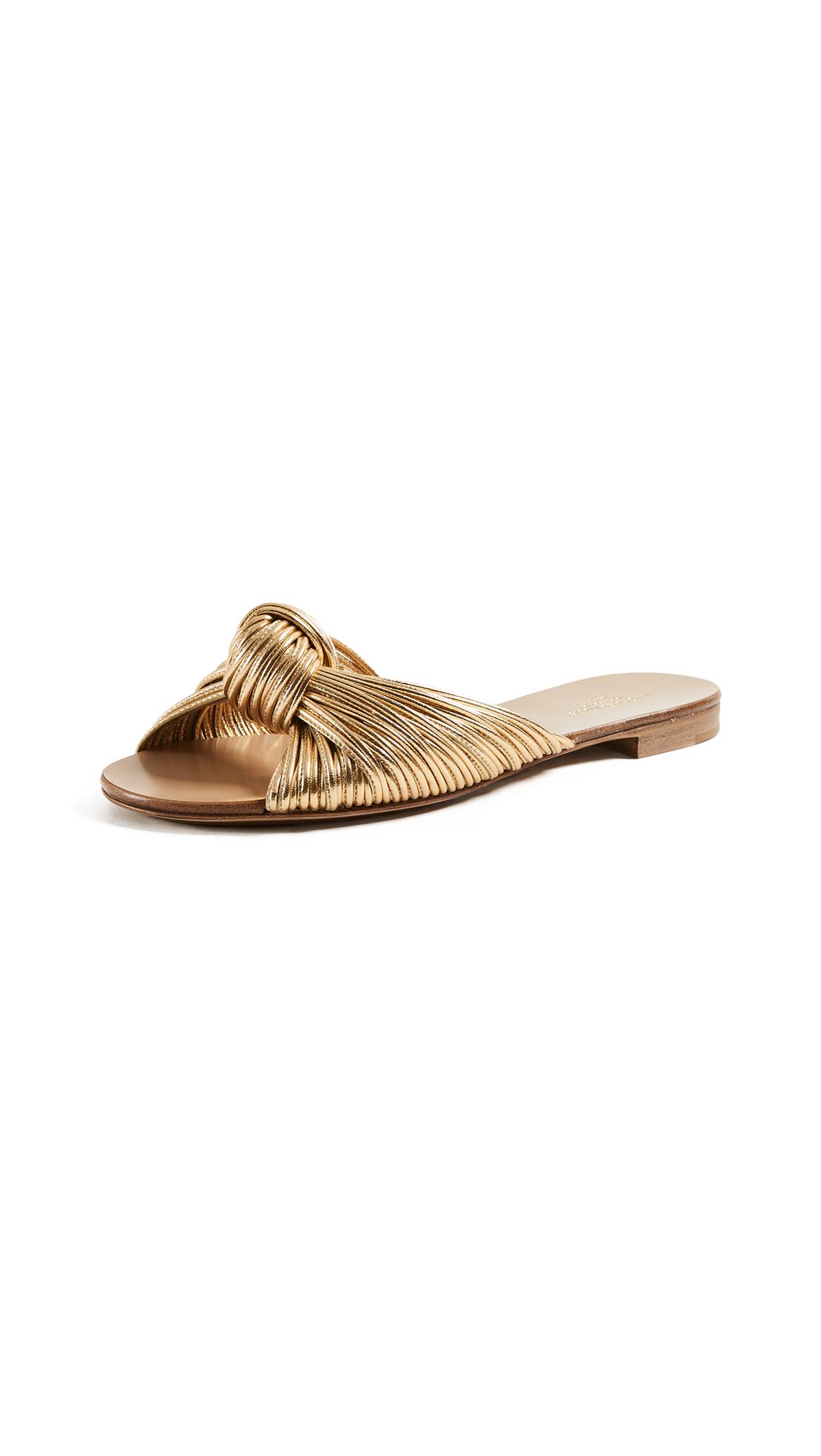 Michael Kors Collection Serena Slides - Gold