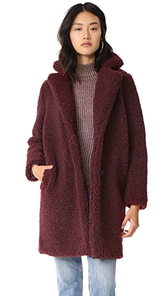 MKT Studio Mania Sherpa Coat - Bordeaux