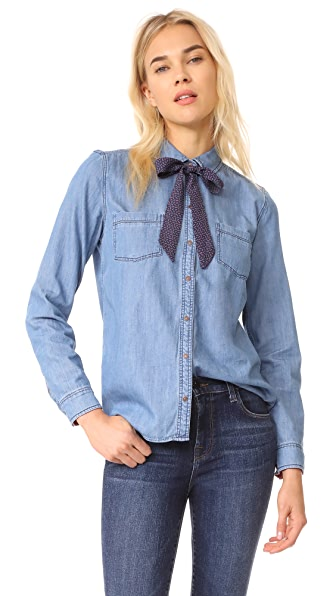 MKT Studio Chaly Blouse In Blue