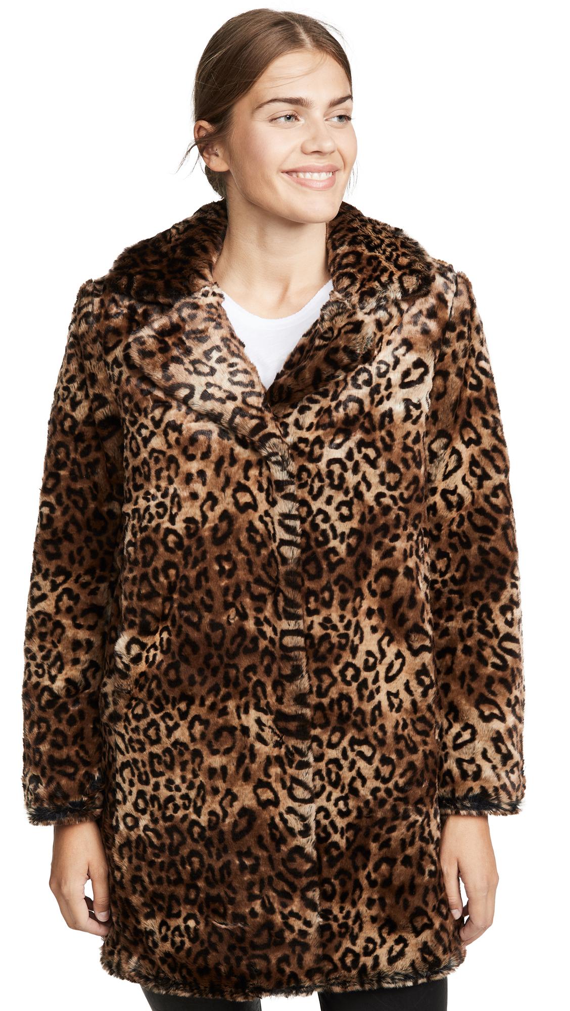 Buy MKT Studio online - photo of MKT Studio Malori Leopard Coat