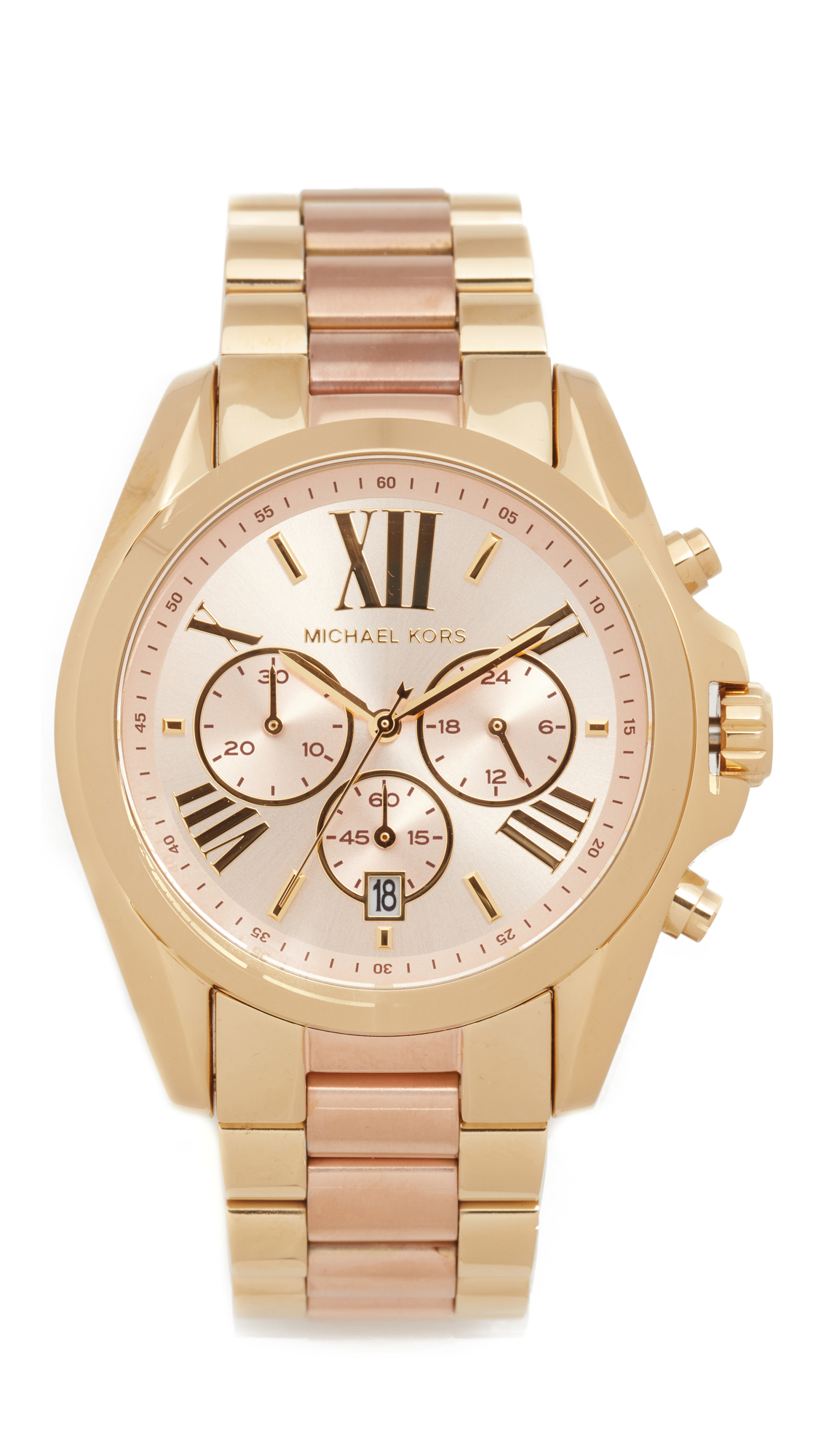 michael kors female michael kors bradshaw watch rose goldgold
