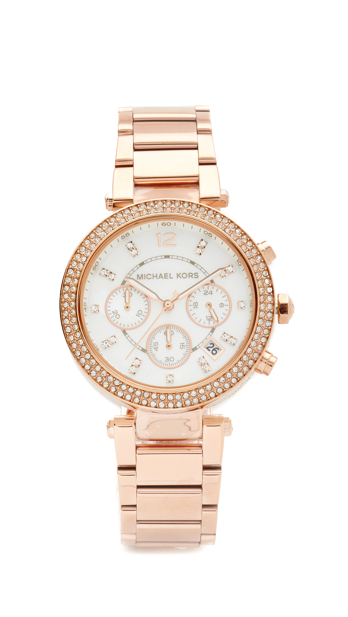 michael kors female michael kors parker watch rose gold