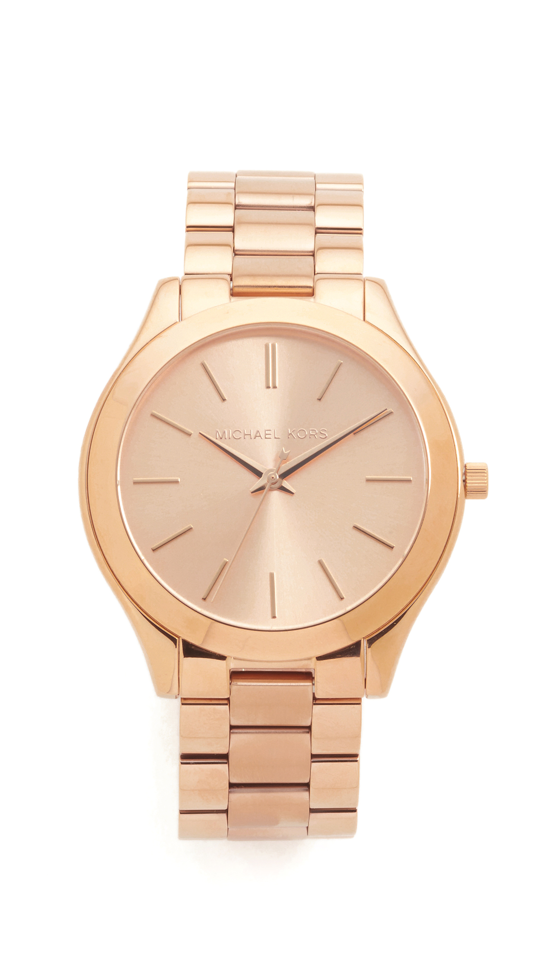 michael kors female michael kors slim runway watch rose gold