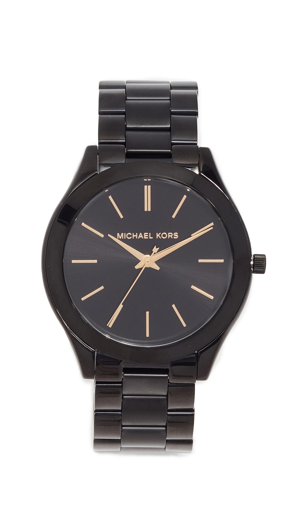 Michael Kors Slim Runway Watch - Black
