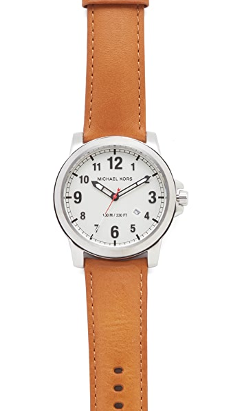 Michael Kors Paxton Leather Watch
