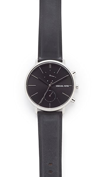 Michael Kors Jaryan Leather Chronograph Watch