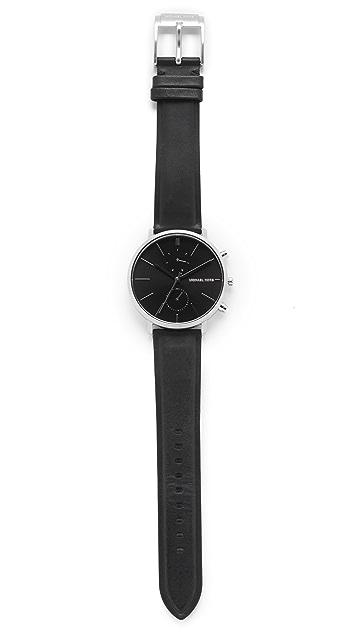Michael Kors Jaryan Leather Chronograph Watch