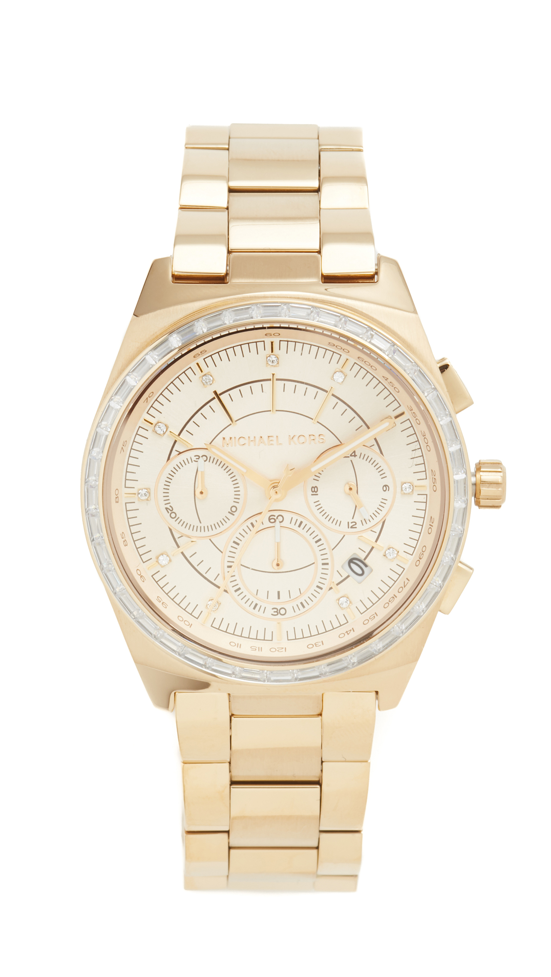 michael kors female michael kors vail watch gold