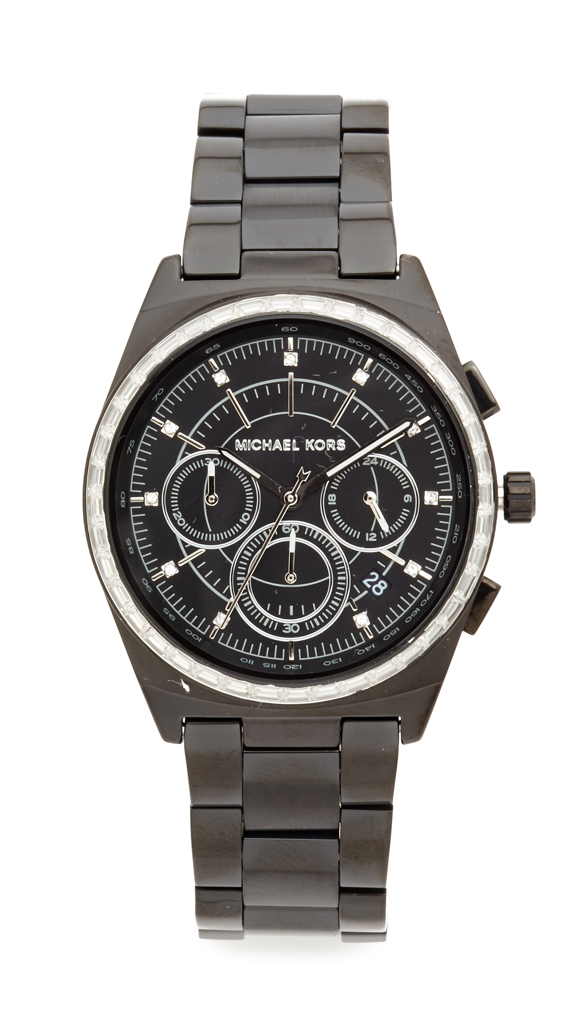 michael kors female michael kors vail watch black