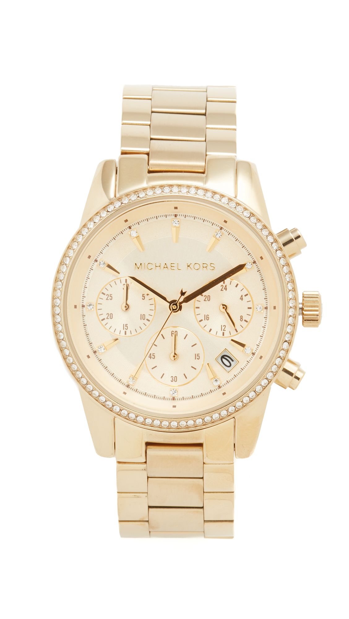 michael kors female michael kors ritz watch gold