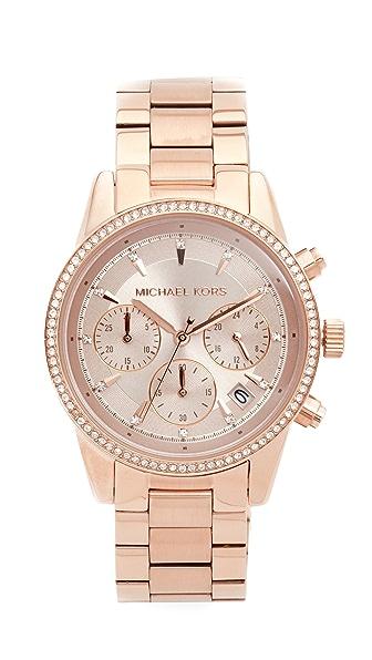 Michael Kors Ritz Watch - Rose Gold