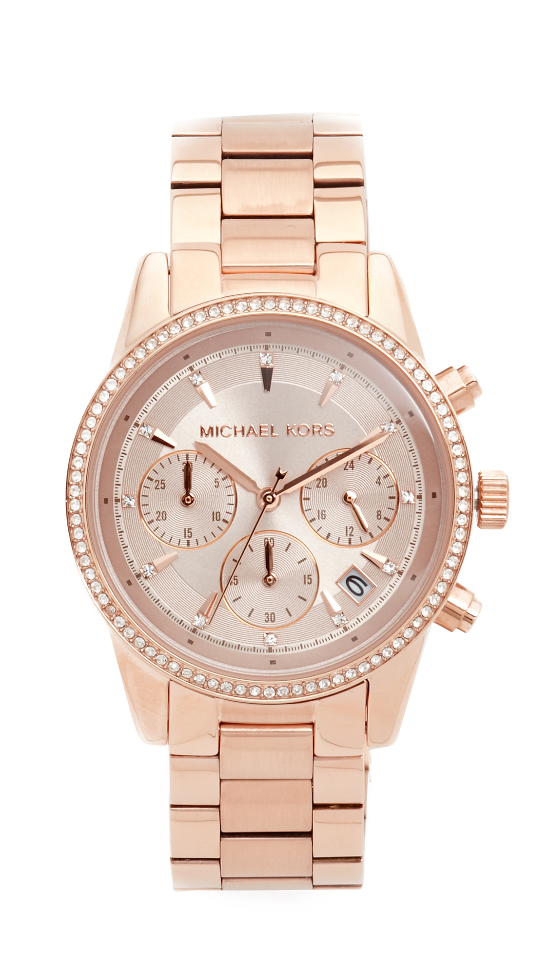 michael kors female michael kors ritz watch rose gold