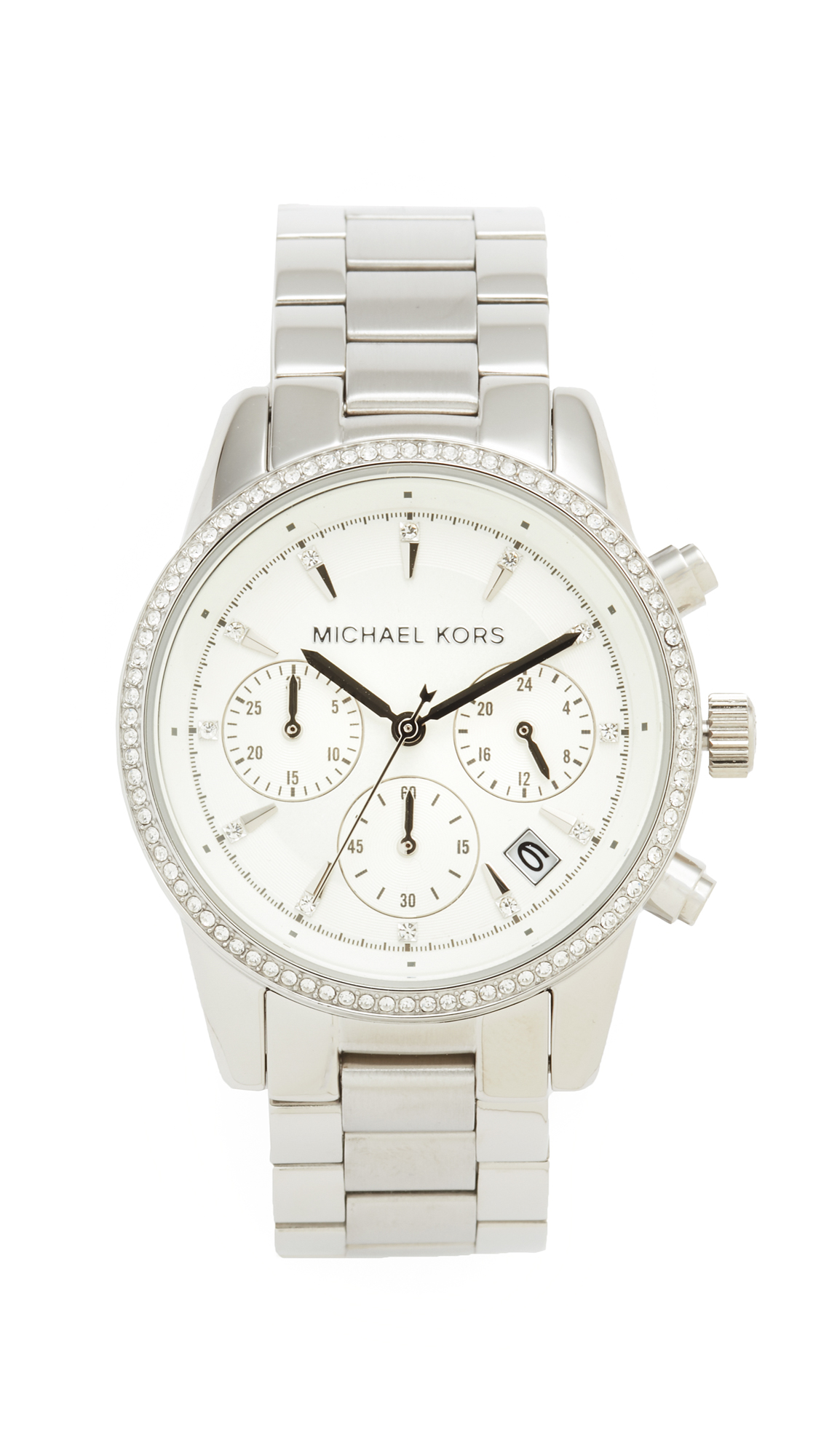 michael kors female michael kors ritz watch silver