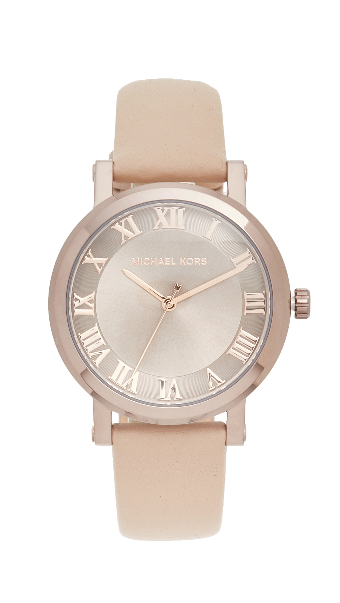 michael kors female michael kors norie watch sablelatte