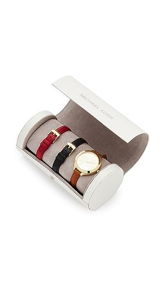 Michael Kors Slim Runway Watch Gift Set