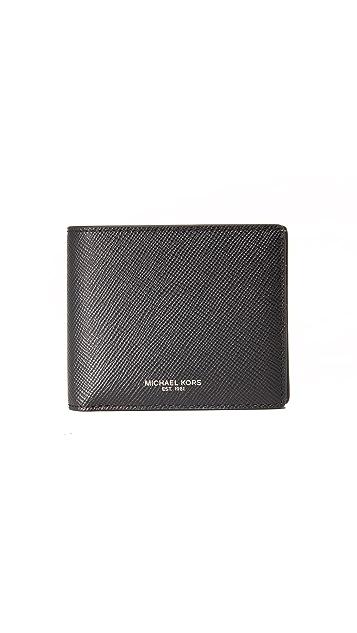 Michael Kors Harrison Leather Billfold with ID Window