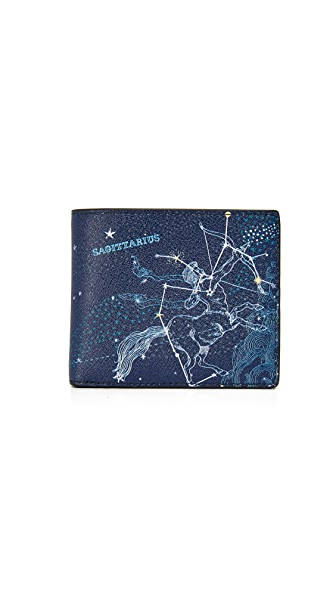 Michael Kors Sagittarius Leather Astrology Billfold